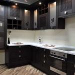 Кухонный гарнитур венге в китайском стиле