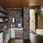 Можно обклеить короб плиткой, имитирующей кирпич или натуральный камень