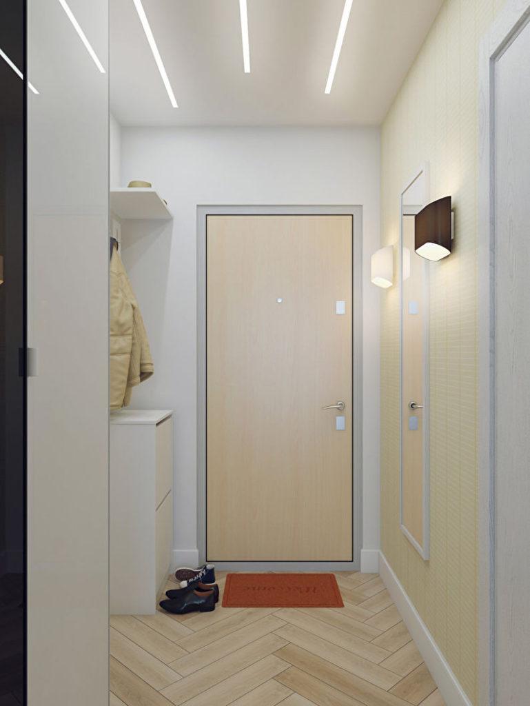 Правильное освещение в коридоре без окон