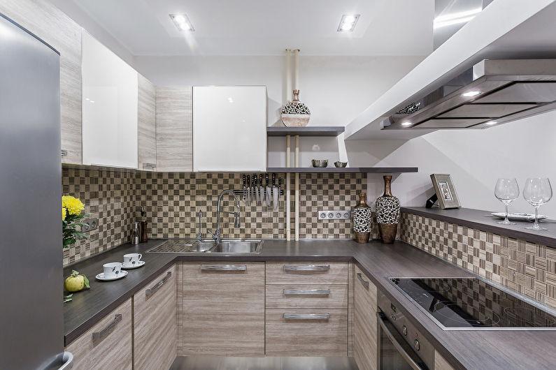 Правильное освещение кухни площадью в 7 квадратов
