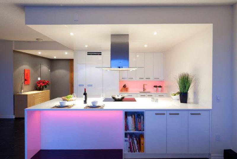 Организация освещения кухни в стиле модерн