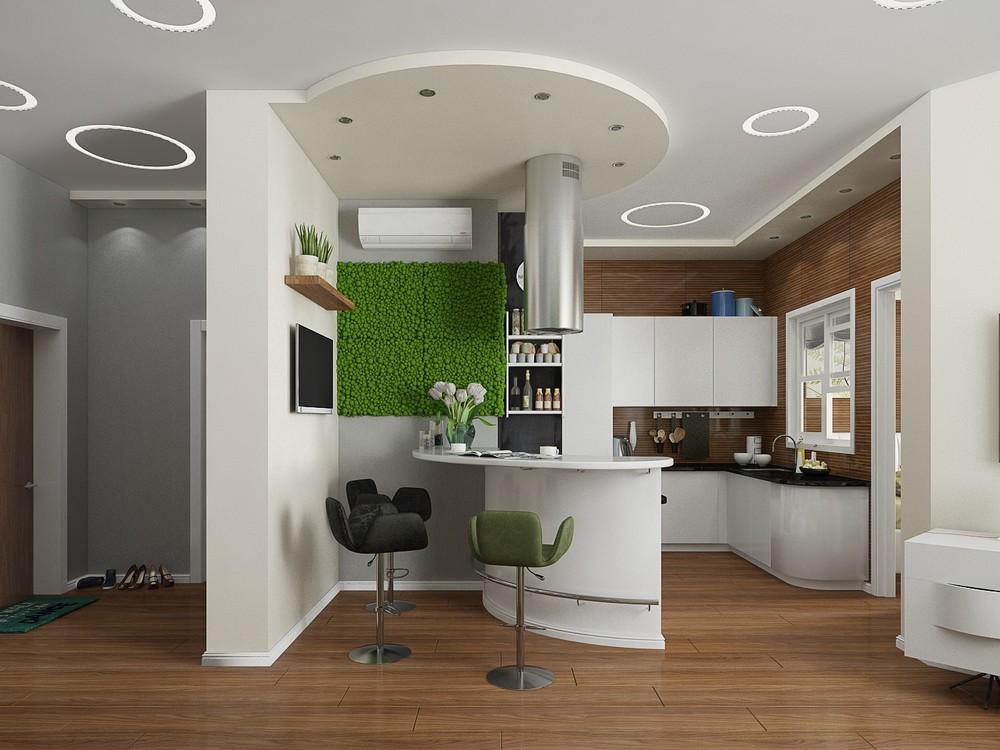 Оформление интерьера кухни с элементами стиля бионика