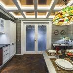 Закаленные стекла в кухонной двери