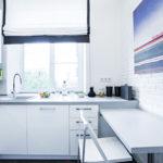 Скандинавская кухня в белом цвете