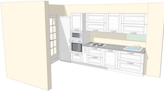 Дизайн-проект кухни линейной планировки