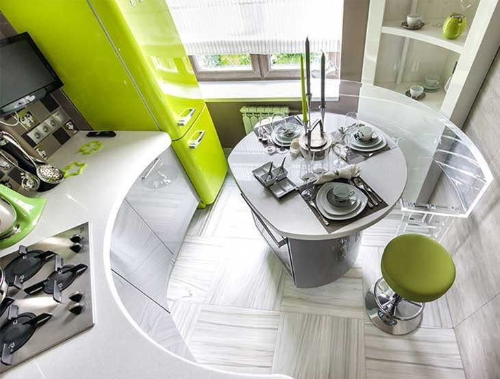 Интерьер современной кухни в футуристическом стиле
