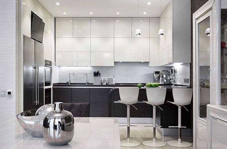 Кухонные фасады с глянцевым покрытием