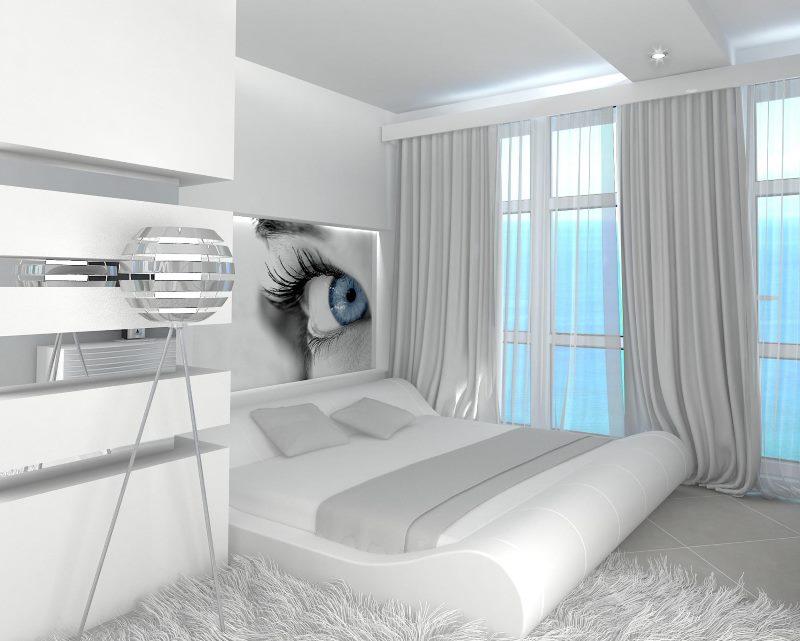 Фантастический дизайн спальни-гостиной в стиле бионика