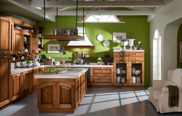 Стены кантри кухни