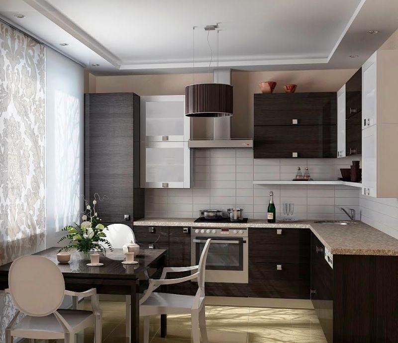 Интерьер кухни площадью в 10 кв м в стиле минимализма