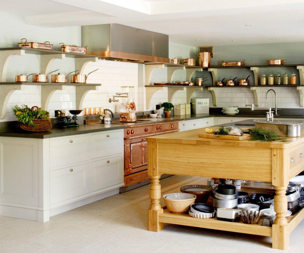 Угловая планировка кухни с островом