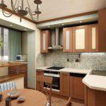 Увеличение размеров кухни за счет балкона