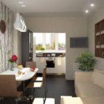 Вынесение кухни на лоджию для освобождения пространства