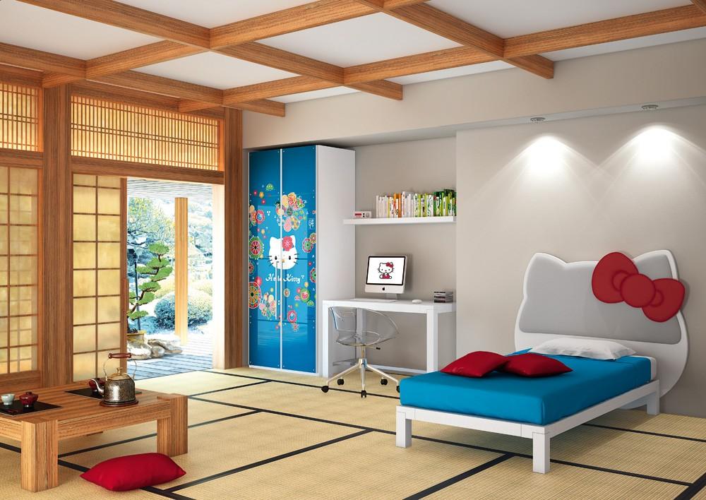 Дизайн детской комнаты в японском стиле