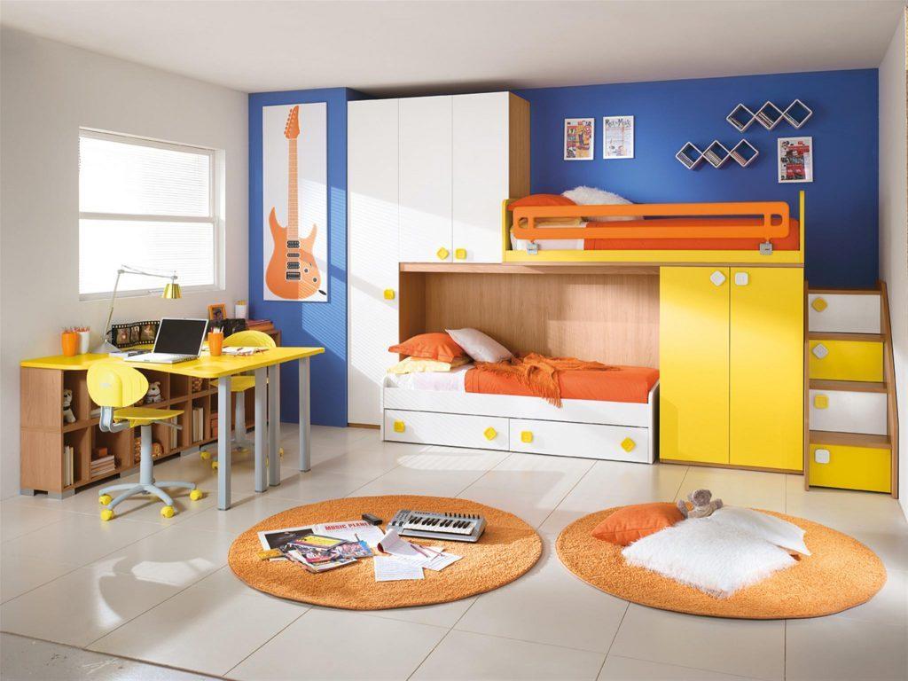 Оранжевые коврики круглой формы